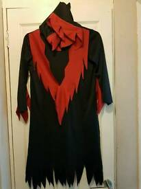 Ladies demon halloween fancy dress costume one size 14 16 18