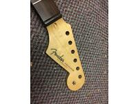 Fender type neck