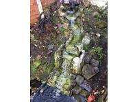 Pond waterfall feature