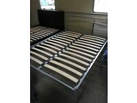 King size (5ft) ex display silver bed frame