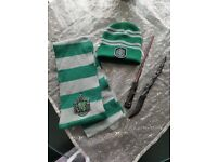 Harry Potter wands, hat, scarf