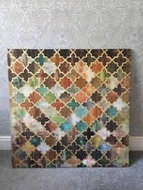 Large Tile Pattern Moroccan Canvas