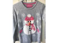 Primark aged 9-10 Snowman Christmas Jumper