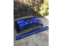 Mk5 Ford Fiesta zetec s front and rear bumpers with side skirts body kit