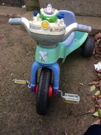 Buzz light year lights up trike