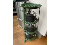 Metal Victor Pan Stand in Green - 4 Tiers (not including the pans)