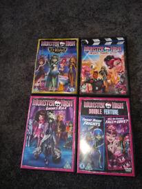 4 Monster High DVDs