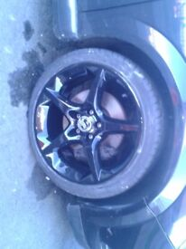 astra vxr 18 inch penta alloy wheels in super black