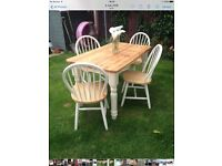 Stunning farmhouse table and chairs