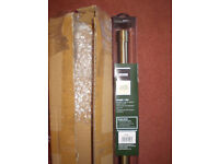 new curtain pole metal 1.8m burnished brass with 18 rings and 2 brackets