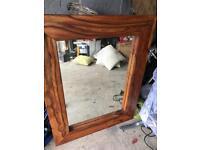 Sheesham wood mirror