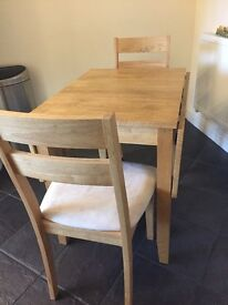 Small dining table and chairs extendable