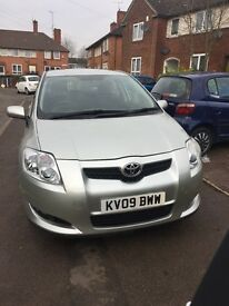 Toyota auris silver colour petrol five door