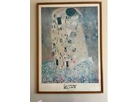 Beautiful Wall Picture – Large Framed Gustav Klimt 'The Kiss'