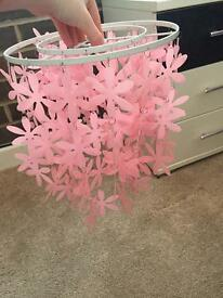 Pink flower light shade
