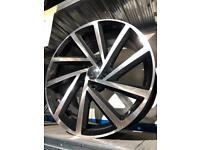 "Set of 4 18"" alloy wheels alloys rims tyres 5x112 will fit vw Volkswagen seat Skoda Audi caddy"