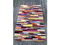 Multicolour 100% Pure Wool Rug