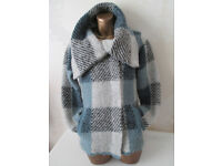 Ladies Blue Mix Jacket. By Per Una. M&S. Small. Excellent Condition.Used.