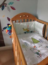 Mamas and Papas boys quilt and bumper