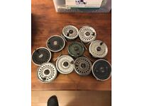 Job lot of fly reels and lines