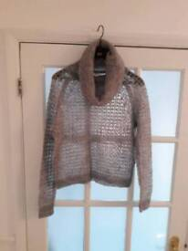 Vera Moda Grey Knitted Jumper Size Small