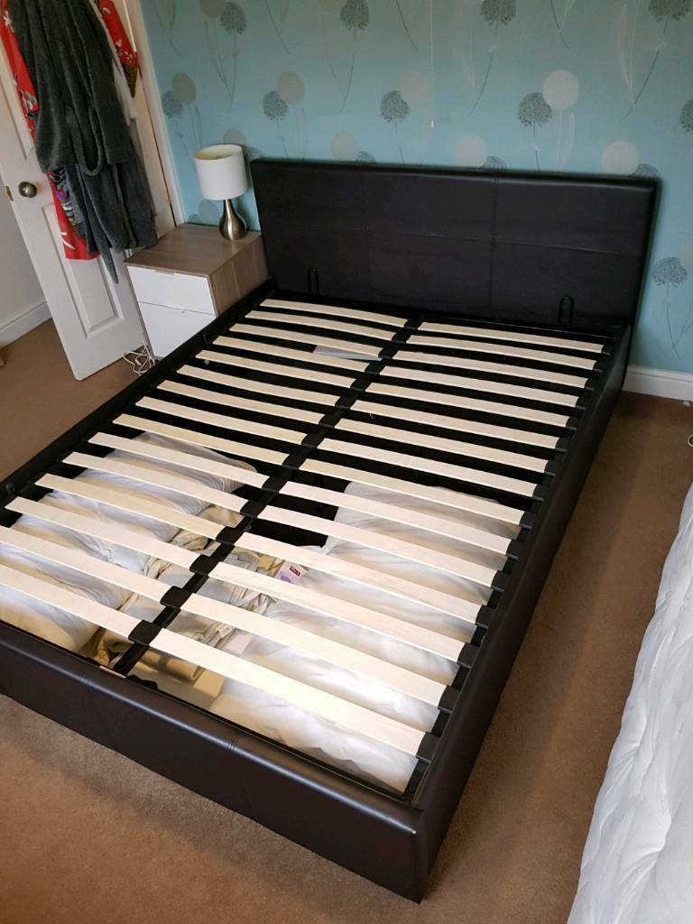 King size otterman bed in faux leather.