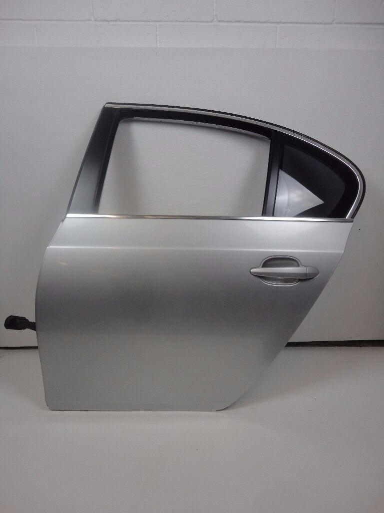 BMW 5 Series 525D E60 03-07 Rear Left Passenger Door In Titan Silber Ref 87037