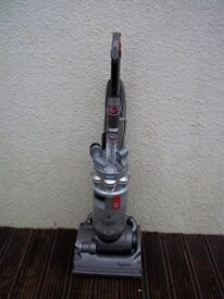 DYSON DC14 SILVER UPRIGHT BAGLESS VACUUM, FULLY CLEANED, WITH TOOLS AND NEW MOTOR