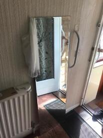 Large mirror comes with all fittings