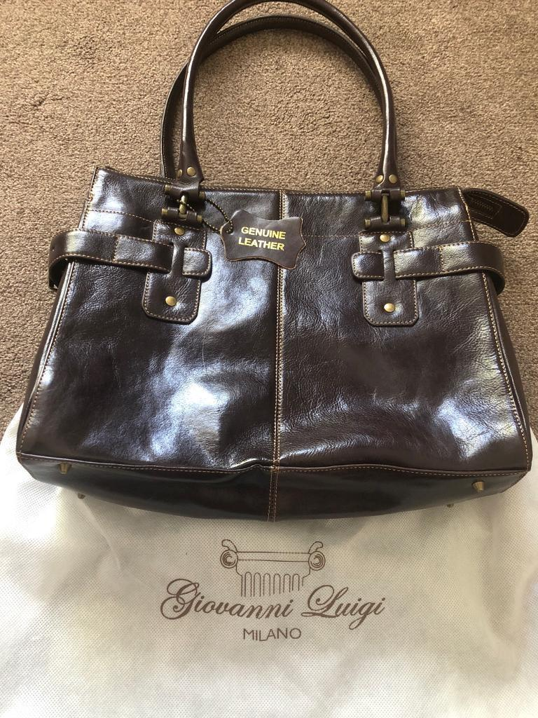 Giovanni Luigi Brown Leather Bag Nearest Offer