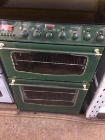 Green stoves 60cm ceramic hub electric cooker grill & double fan ovens with guarantee bargain