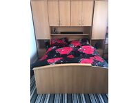 Wardrobes and storage unit plus bed
