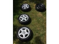 Volkswagen Lupo Alloy Wheels, tyres plus spare wheel.