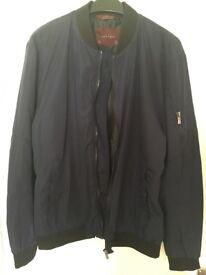 Mens Zara Jacket Navy Blue