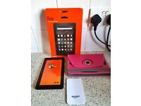 2 x Amazon Kindles with cases