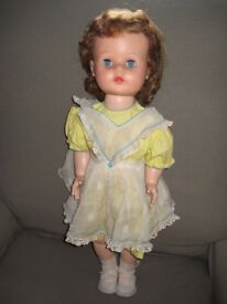 Highly Collectable Genuine Vintage Ideal Doll - 23 Inches/ 58 cm Tall