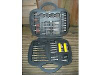 Cased tool bits. Drill bits, sanders, sockets ect. Used excellent condition.