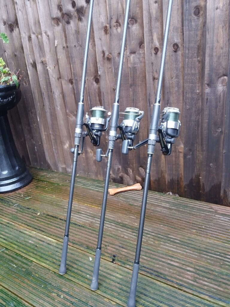 3x greys prodigy sx rods.shimano navi 8ooo reelsin Sheffield, South YorkshireGumtree - 3x Greys prodigy sx 3.5lb test curve 40mm butt rings in good condition with some wear and tear one of the rods have got scratch down the butt section under reel seat as shown on picture. 3x shimano navi xta 8000 reels in perfect working order in used...