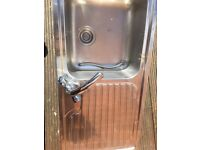 Frankenstein stainless steel sink and tap