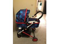 Cosatto Wish Travel System with car seat and isofix base - pram / buggy / pushchair