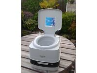 THETFORD PORTA POTTI QUBE 145. AS NEW for camping/caravanning.