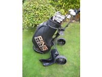 PING EYE 2 GOLF CLUBS IN BAG WITH TROLLEY