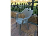 Plastic chair NEW grey