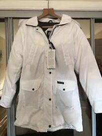 Ladies white winter jacket