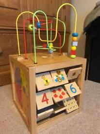 Kids wooden activity centre (5 in 1 activities)