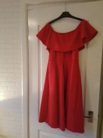 Ladies Red Dress. Size 14. Worn once.