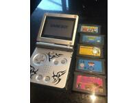 Nintendo Gameboy advance sp tribal
