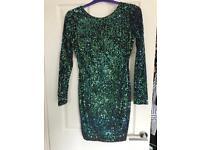 Motel Rocks Green Sequin Dress size 14