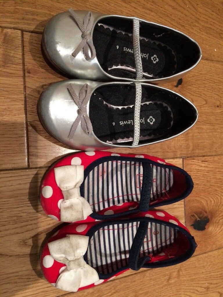 Girls party shoes size 6 John Lewis and Tu