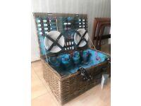 M&S wicker summer picnic basket NEW